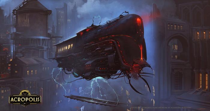 Death Express Арт, Рисунок, Поезд