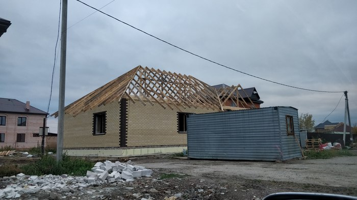 Как я строил дом родителям (часть 4: Крыша) Строительство дома, Частный дом, Длиннопост