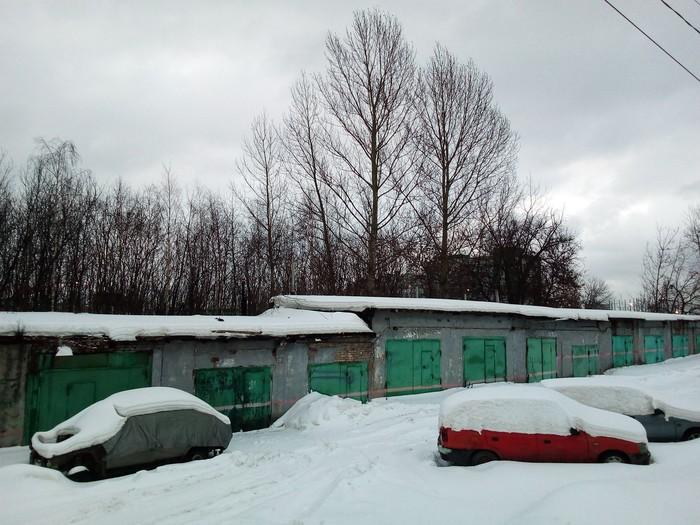 Зимний пейзаж в городе