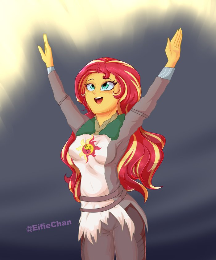 \[T]/ Praise the Sunset \[T]/ My Little Pony, Equestria Girls, Sunset Shimmer, Crossover, Dark Souls, Solaire of Astora, Eifiechan