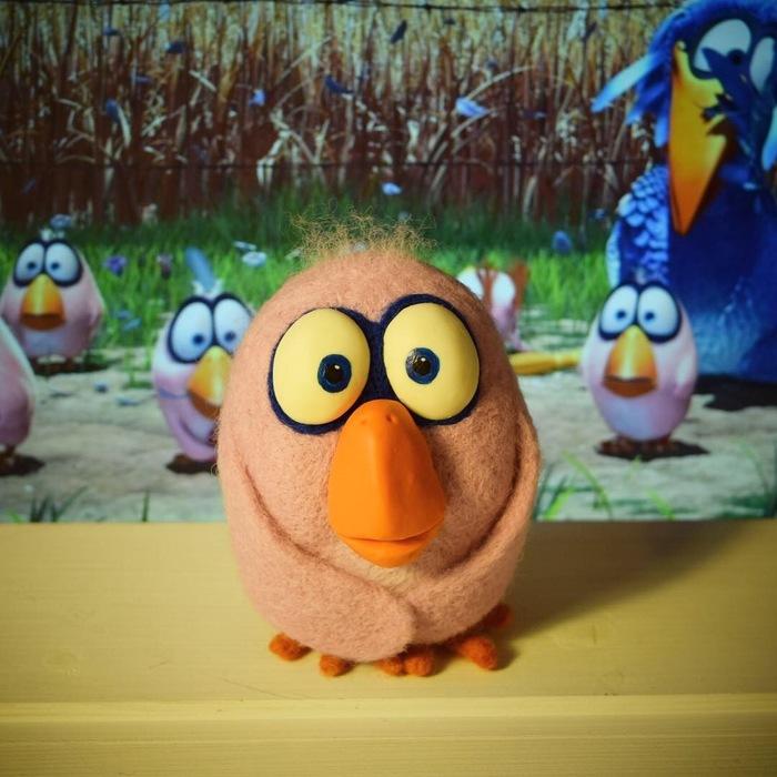 Птичка мультяшка Pixar продолжение Рукоделие без процесса, Своими руками, Птицы, Мультфильмы, Pixar, Handmade, Игрушки, Длиннопост