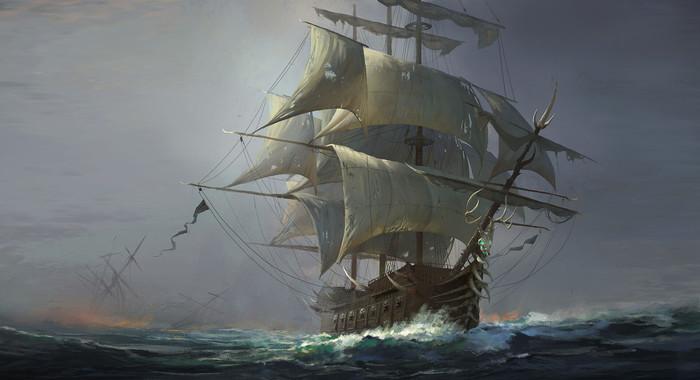 Корабль Арт, Рисунок, Корабль