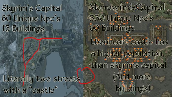 Skyrim vs Morrowind (Сравнение главных городов) Компьютерные игры, Сравнение, Morrowind, Skyrim, The Elder Scrolls, Reddit, Перевел сам