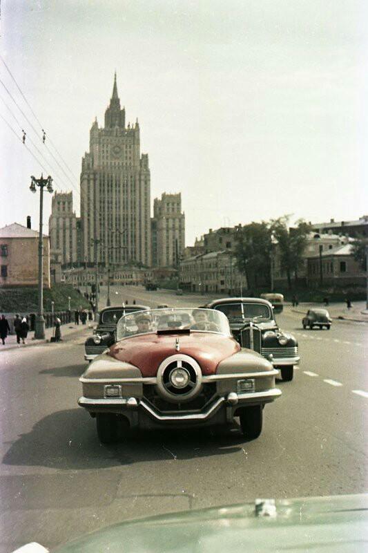 ЗИС-112 на улицах Москвы, сентябрь 1956 года
