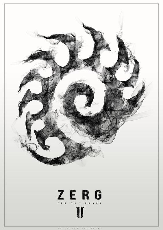 Серия стилизованных постеров по StarCraft 2 Starcraft, Starcraft 2, Blizzard, Постер, Зерги, Протоссы, Терраны, Длиннопост