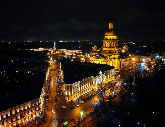 Санкт-Петербург Санкт-Петербург, Квадрокоптер, Фотография, Ночь, Длиннопост