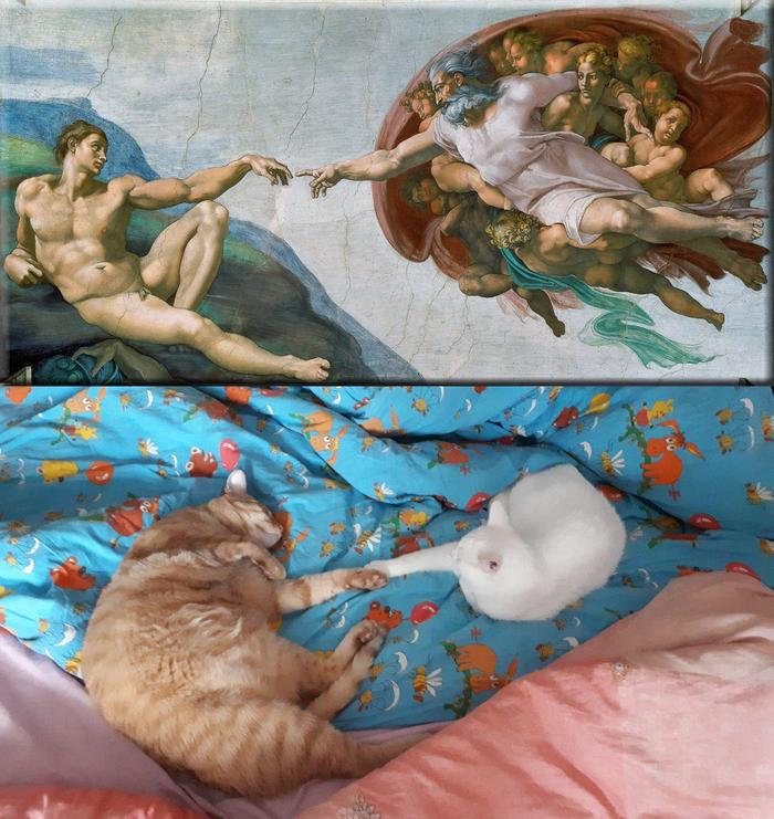«Сотворение Адама» — фреска Микеланджело