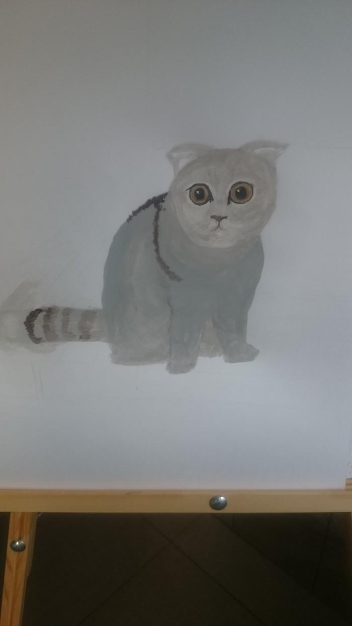 Не быть мне художником Рисунок, Кот, Кривые руки, Художество, Длиннопост