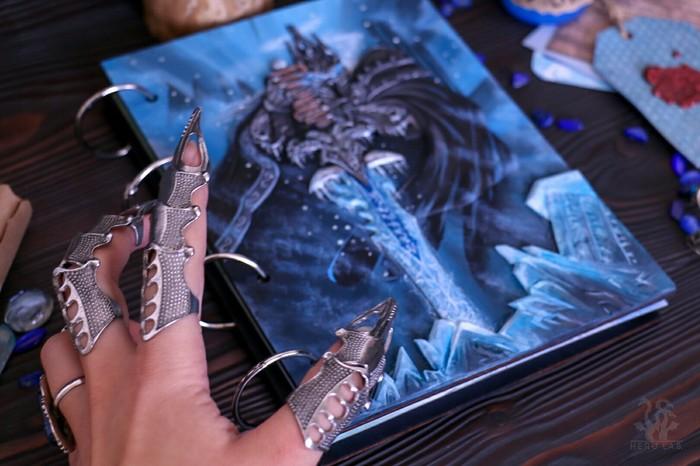 Король Лич Ручная работа, Полимерная глина, WOW, World of Warcraft, Блокнот, Король Лич, Длиннопост, Видео
