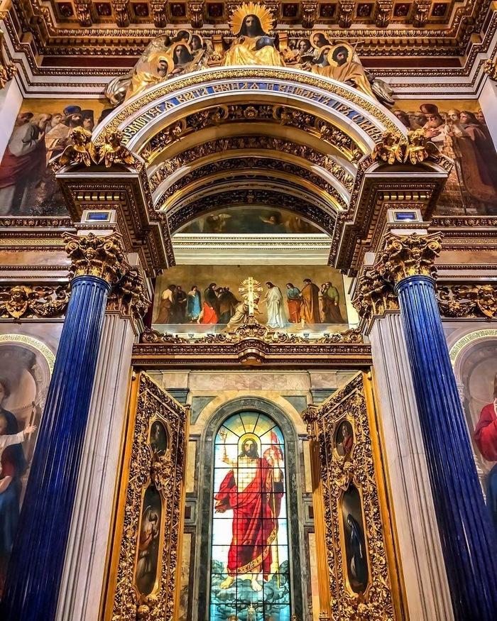 Питер. Исаакиевский собор внутри Санкт-Петербург, Красота, Исаакиевский собор, Длиннопост