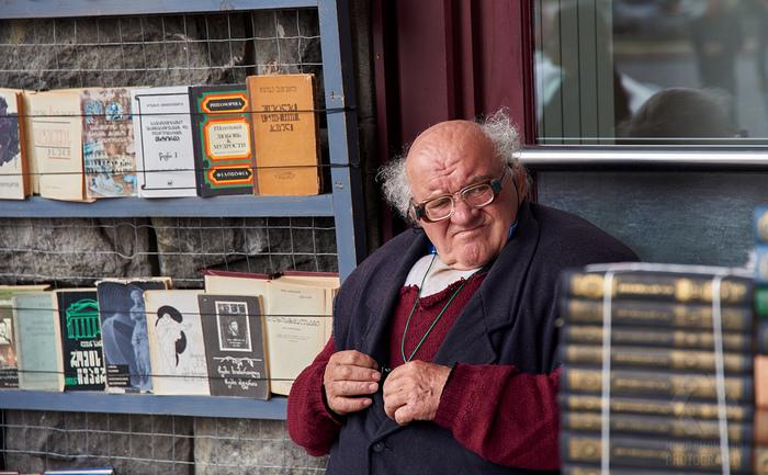Продавец книг. Тбилиси Тбилиси, Фотография, Чудак-Человек, Продавец, Книги