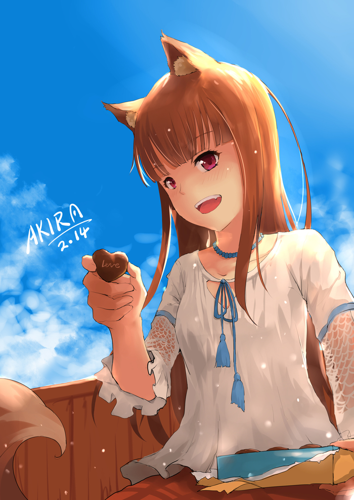 Шоколад от Богини Anime Art, Аниме, Волчица и пряности, Horo, Holo, День святого Валентина
