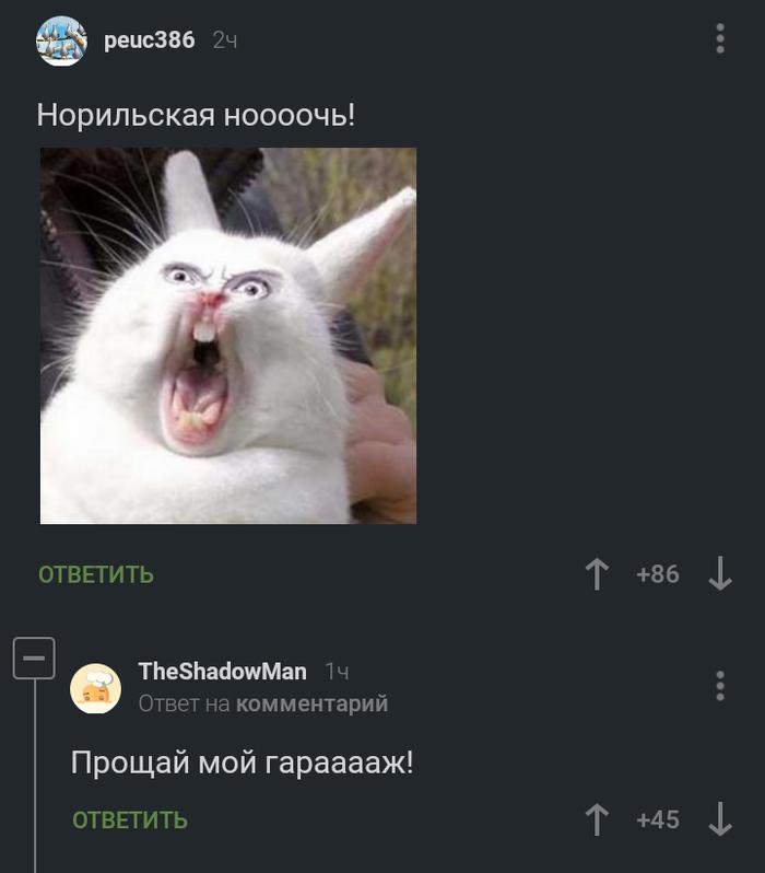 Норильская ноооочь! Комментарии на Пикабу, Норильск, Длиннопост, Скриншот