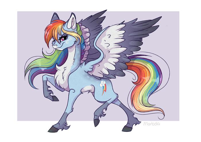 Mane 6 redesign My Little Pony, Mane 6, Marbola, Длиннопост