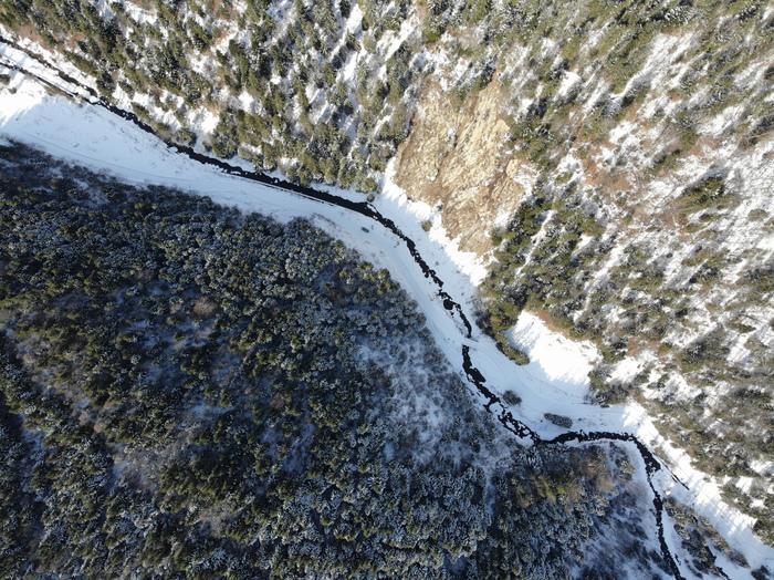 Горная река Квадрокоптер, Аэросъемка, Фотография, Горы, Карпаты, Река