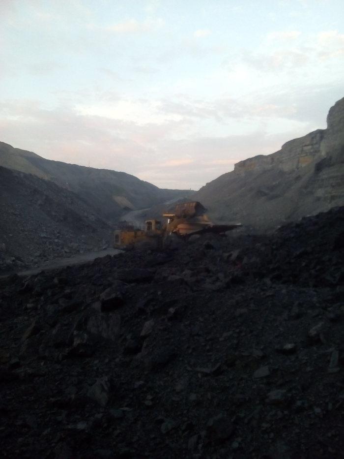Угольный разрез изнутри. Уголь, Разрез, Работа, Длиннопост, Карьер