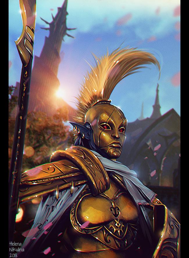Mournhold - City of Light, City of Magic Арт, Morrowind, Фан-Арт, Игры, The Elder Scrolls, Ординатор, Данмер