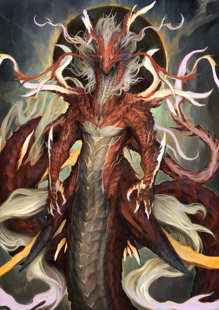 Старое Пламя Кагари Арт, Рисунок, Pixiv, Дракон
