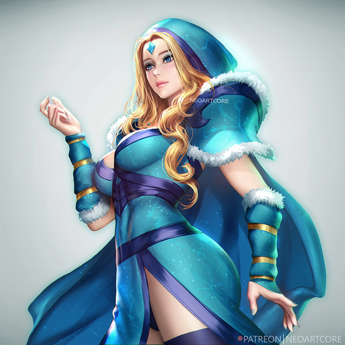 Crystal Maiden Art Арт, Neoartcore, Dota, Dota 2, Crystal Maiden, Девушки