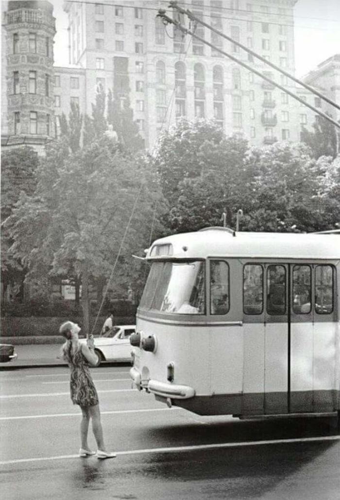 1975 год. Водитель троллейбуса