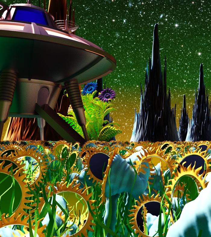 Мультфильм из детства. 3D рисунок, 3ds max, Coronarender, Хобби, Длиннопост, Тайна третьей планеты
