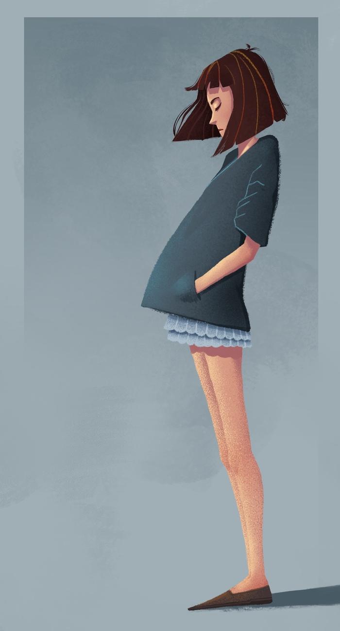 Проба в стилизацию Рисунок, Девочка, Стилизация, Цифровой рисунок, Арт, Длиннопост