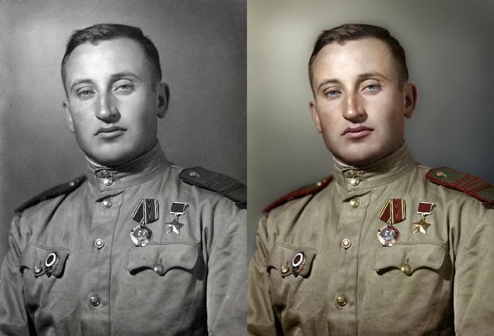 Моя колоризация Колоризация, Великая Отечественная война, Герой Советского Союза, Чтобы помнили, Длиннопост