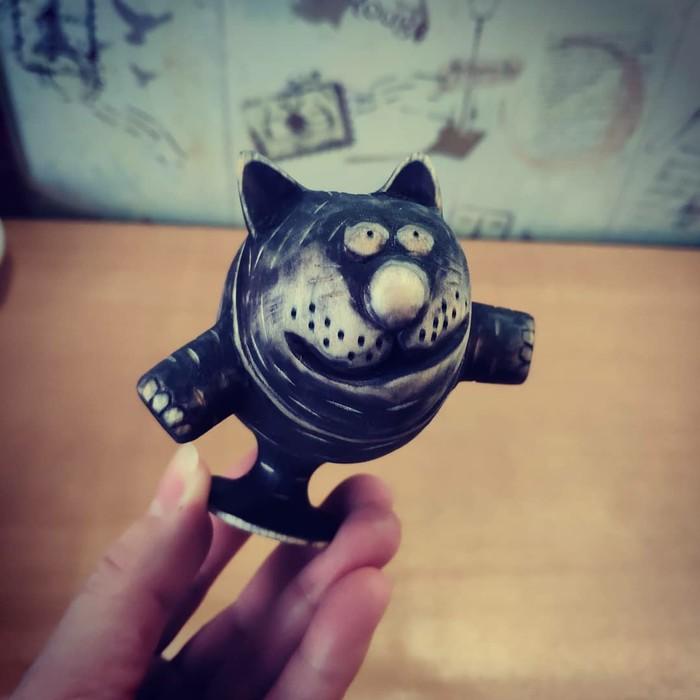 Полёт кота) Кот, Ручная работа, Статуэтка, Своими руками, Резьба по дереву, Поделки, Рукоделие без процесса, Длиннопост