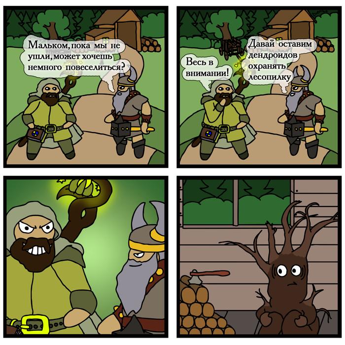 Мелкие шутники HOMM III, Герои меча и магии, Игры, Комиксы, Оплот, Геройский юмор