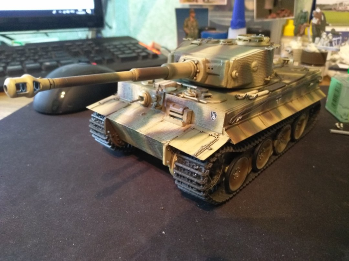 Тигр 507 ТТБ. Dragon 6624. Почти все, но не совсем Стендовый моделизм, Тигр, Модель, Великая Отечественная война, Окраска, Моделизм, Длиннопост