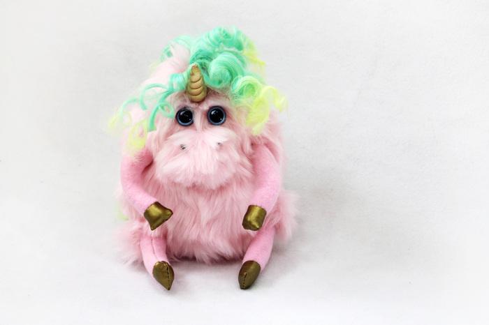 Розовый единорог Единорог, Ручная работа, Авторская игрушка, Рукоделие без процесса, Длиннопост