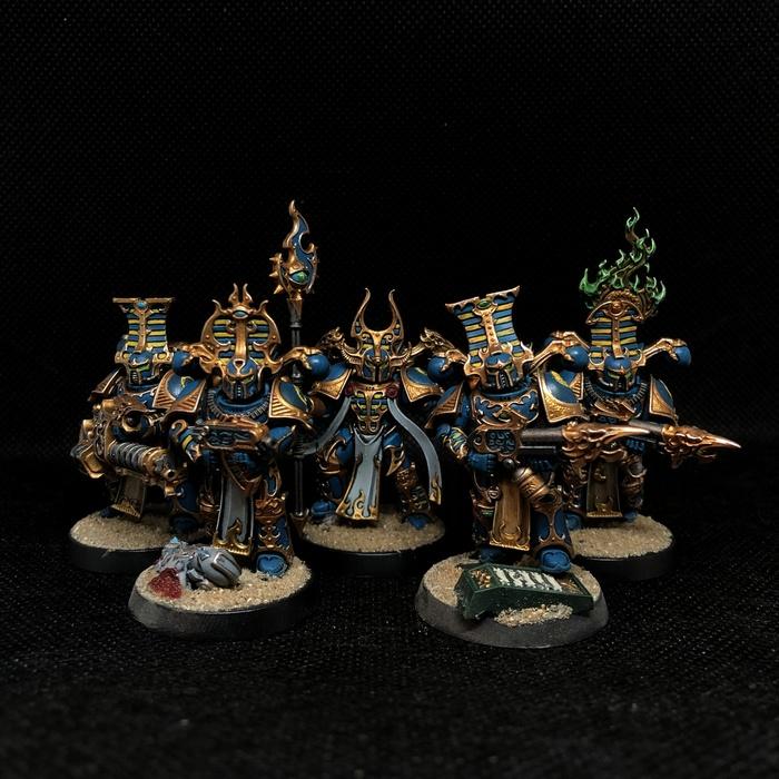 Пафосные хаоситы Thousand Sons, Chaos Space marines, Warhammer 40k, Хобби, Миниатюра, Покраска миниатюр, Wh miniatures