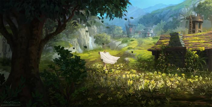Потрясающая Низина Арати от художника Andrei Popescu. WOW, World of Warcraft, Warcraft, Blizzard, Game Art, Арт, Творчество