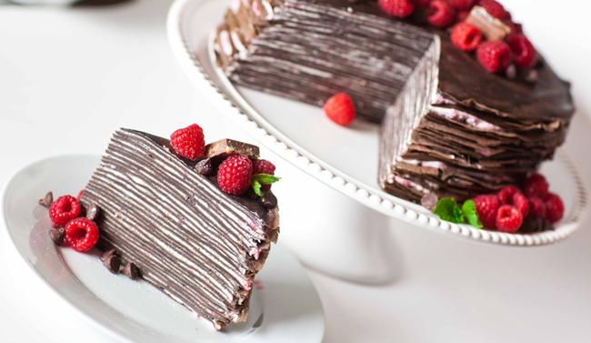 Шоколадный блинный торт Блины, Еда, Рецепт, Длиннопост
