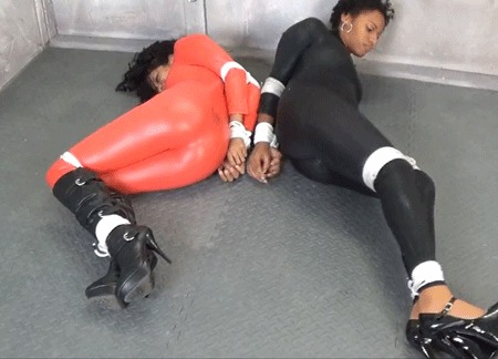 Sista's In Trouble Бондаж, Связывание, Уголок извращений 18+, Девушки, Гифка, Длиннопост