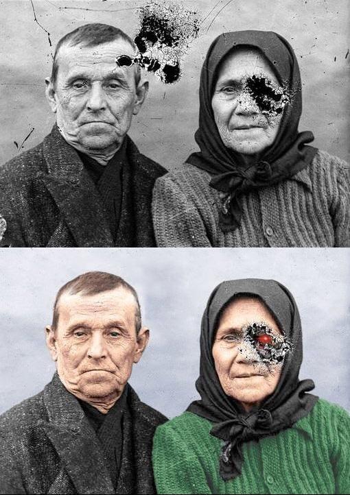 Когда попросил друга отреставрировать старое фото