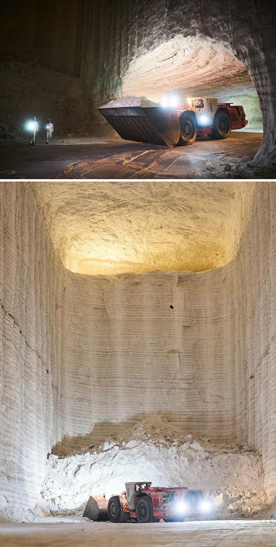 Как соляная шахта выглядит изнутри