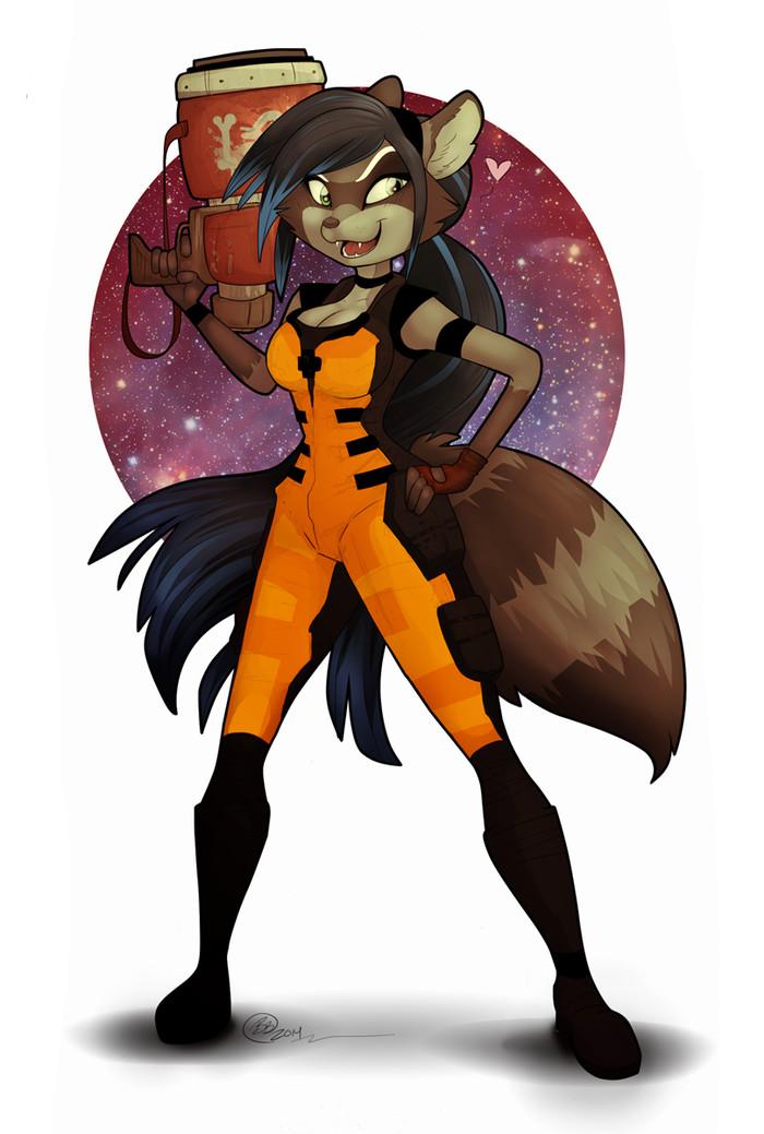 Нет ничего похожего на меня, исключая меня Фурри, Furry Art, Furry Raccoon, Стражи Галактики, Енот Ракета, Правило 63, Ezra_starscale