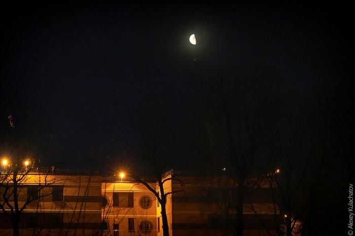 Соединение Луны и Юпитера Астрофото, Юпитер, Луна, Длиннопост