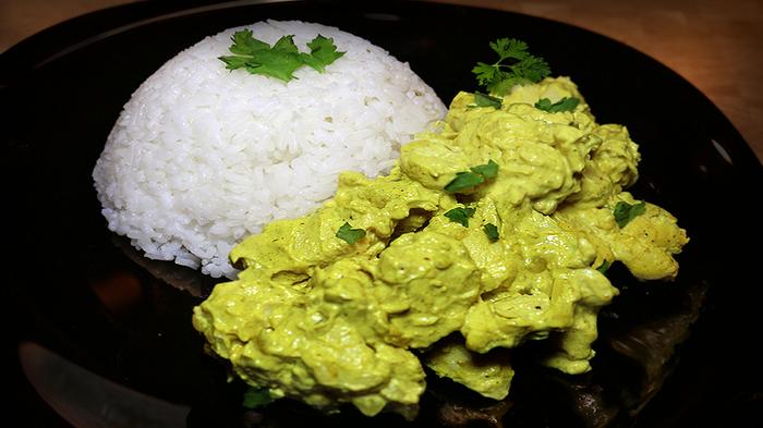 Курица карри Еда, Рецепт, Карри, Индийская кухня, Длиннопост, Видео, Курица