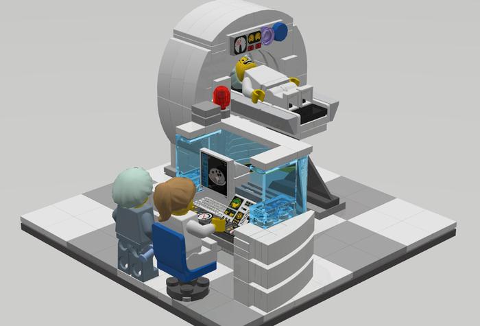 Может ли Lego сделать сканирование в МРТ менее пугающим для пациентов? МРТ, Кт, Томография, Rustomograf, Рустомограф, Гифка, Длиннопост, LEGO