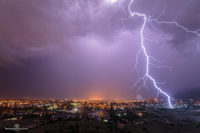 Ночной Драйв Крым, Фотография, Ночь, Гроза, Молния, Фотограф крым