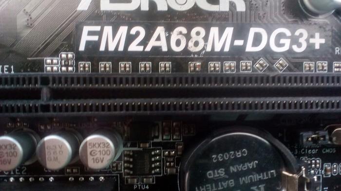 Ремонт матери asrock FM2A68M-DG3+ Материнская плата, Видеокарта