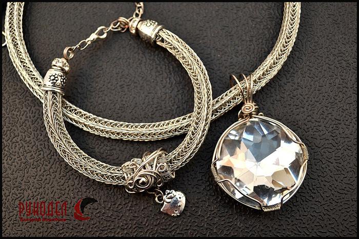 Ожерелье и браслет из проволокиViking Knit. Viking Knit, Wire Wrap, Рукоделие, Ювелирные изделия, Wire jewelry, Своими руками, Длиннопост, Ожерелье