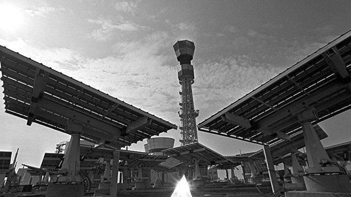 Солнечная Электростанция ЭСЭС-5 Энергетика, Крым, Солнце, Зеркало, Длиннопост