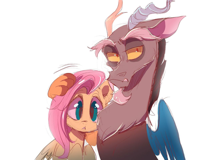 Моя Флатька My Little Pony, MLP Discord, Fluttershy, Bad Oofy