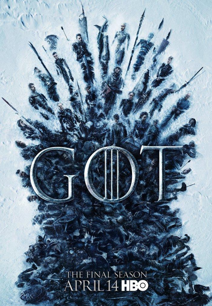 Новый официальный постер финального сезона Игры престолов Игра престолов, Игра престолов 8 сезон, Железный трон, Постер