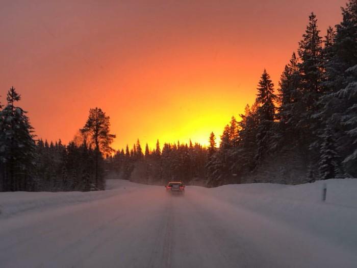 Закат в Финляндии