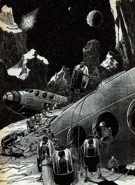 Ретро будущее Будущее в прошлом, Рисунок, Мечта, Фантастика, Длиннопост, Ретрофутуризм