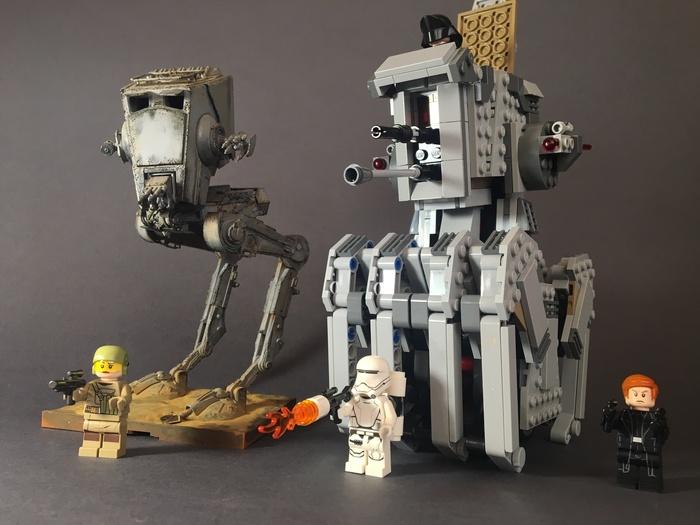 Тяжелый разведывательный шагоход Первого Ордена (LEGO) LEGO, Star Wars, Фотография, Видео, Длиннопост